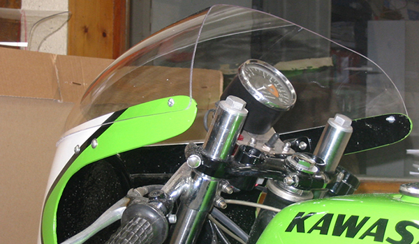 Bulle de carénage moto, thermoformage