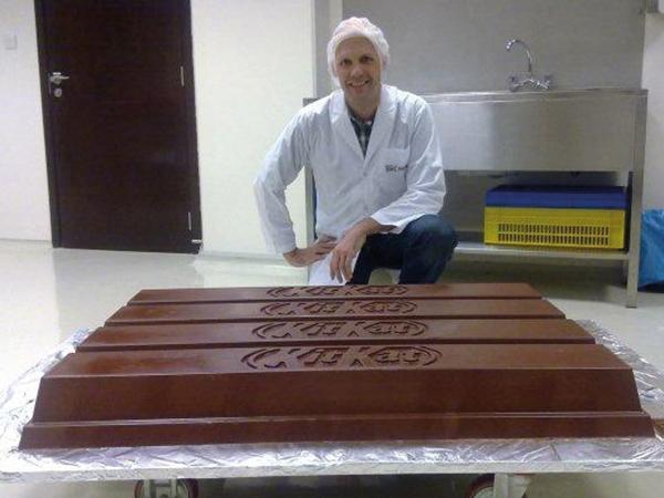 Moule à chocolat thermoformé, Kit Kat géant